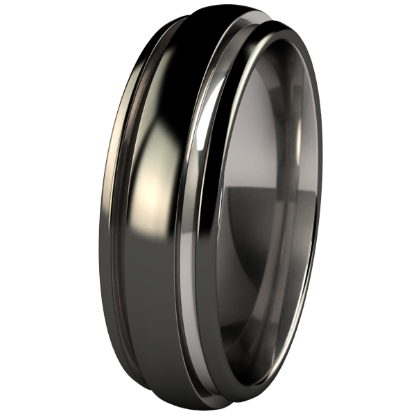 Bumblebee - Black Two Toned-none-Titanium Rings