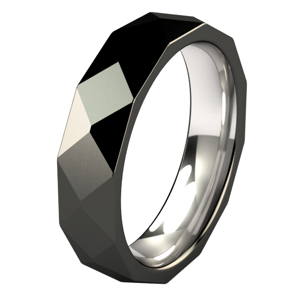 Burlington - Black-none-Titanium Rings