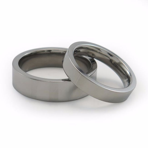 Small height titanium ring or wedding band 1.4mm height