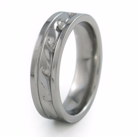 Atlantis Greek Inspired Titanium Ring