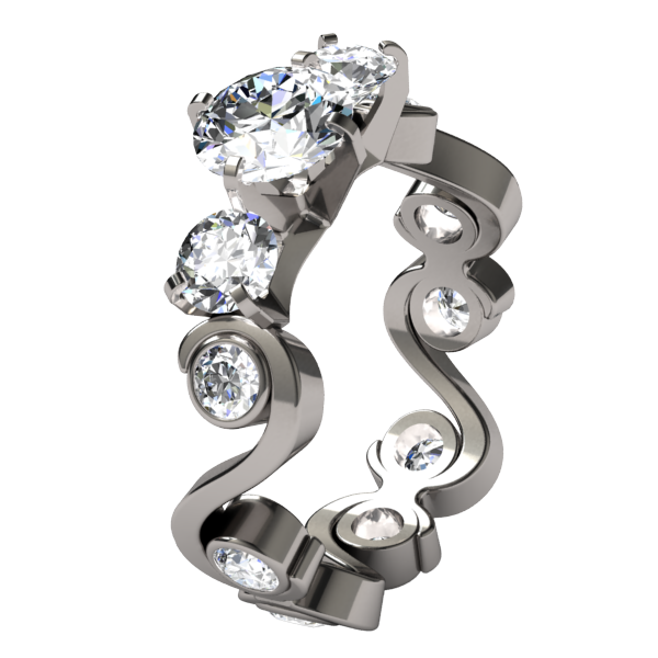 Cecilia Canadian Diamond-none-Titanium Rings