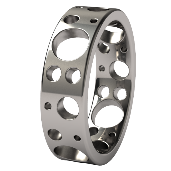 Champagne-none-Titanium Rings