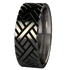 Chevrons - Black-none-Titanium Rings