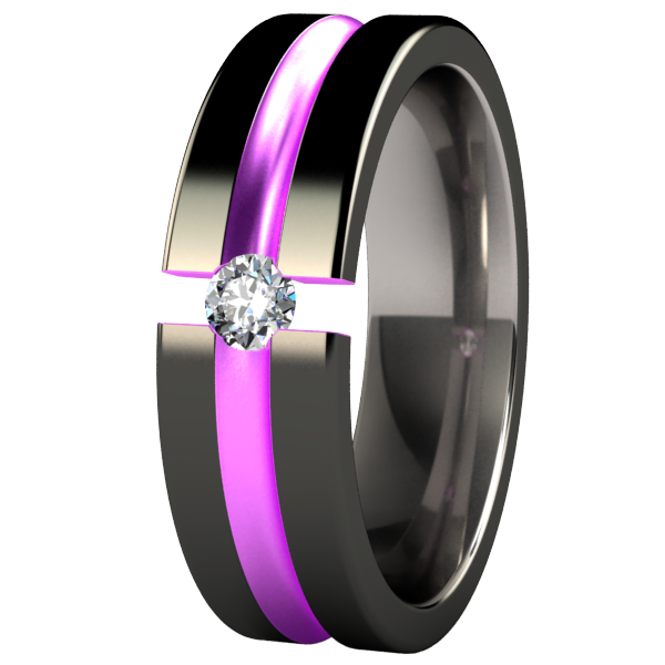 Chimera Black and Colored Tension Setting-none-Titanium Rings