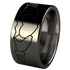 Claddagh - Black-none-Titanium Rings