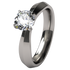 Cleopatra Solitaire Gem-none-Titanium Rings