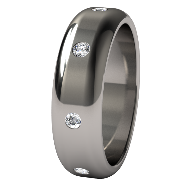 Contour Eternity Inset with 8 Multi Stone Gems-none-Titanium Rings