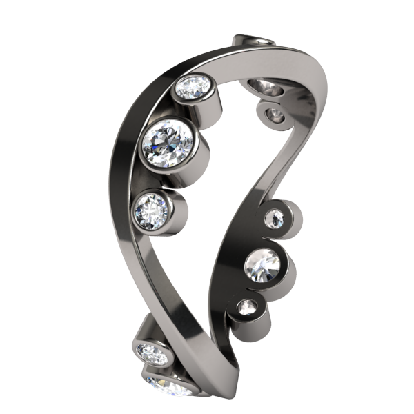 Cosine Diamond Companion-none-Titanium Rings