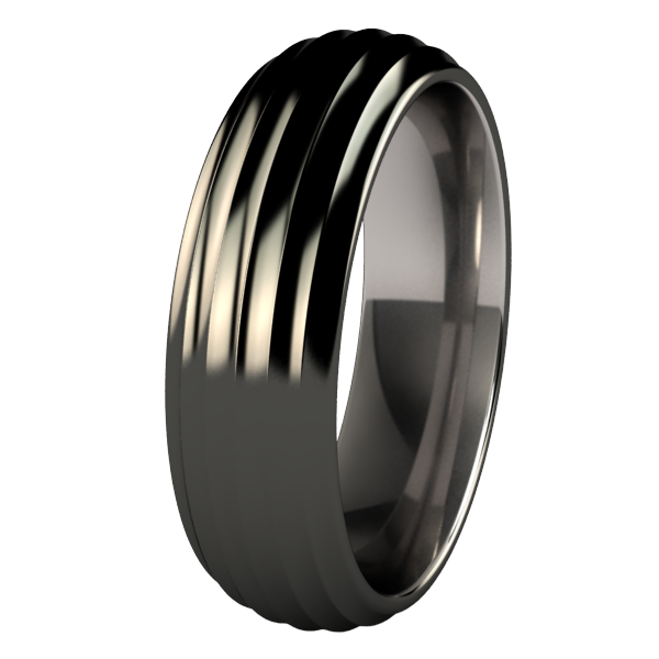 Crescendo Black-none-Titanium Rings