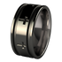 Crusader - Black-none-Titanium Rings