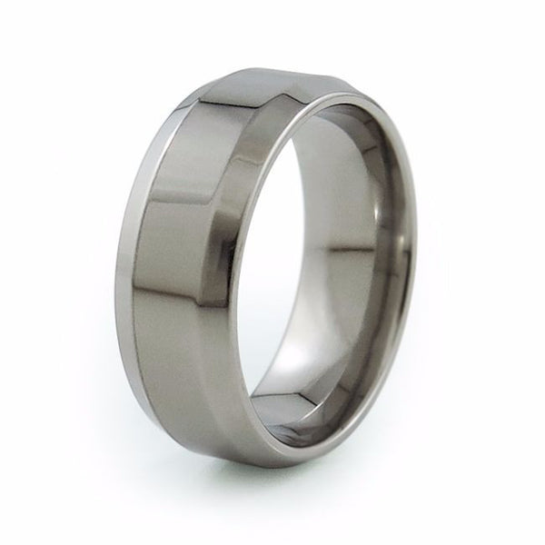 Mens titanium Ring wedding band