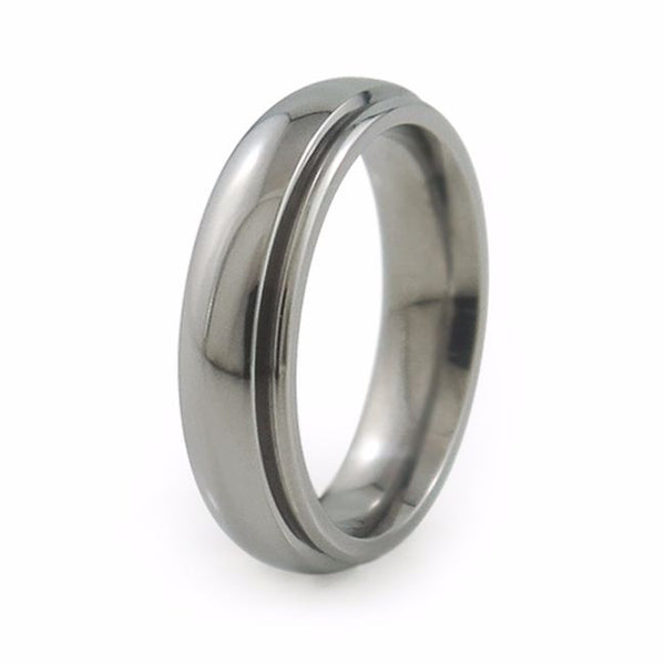 Classic titanium wedding ring or wedding band. Unisex ring, or for men or women.  Comfort fit titanium ring