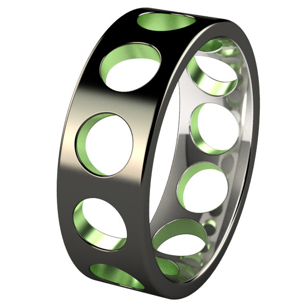 Deepcore Black and Colored-none-Titanium Rings