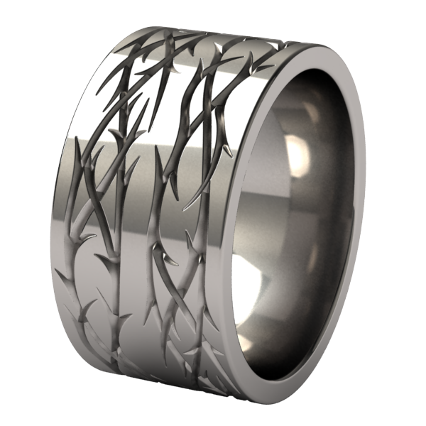 Custom Double Thorns-none-Titanium Rings