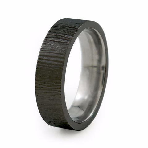 Rain - Mens Black Titanium Ring