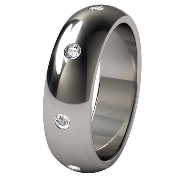 Eclipse Eternity Inset Multi Stone Gems-none-Titanium Rings