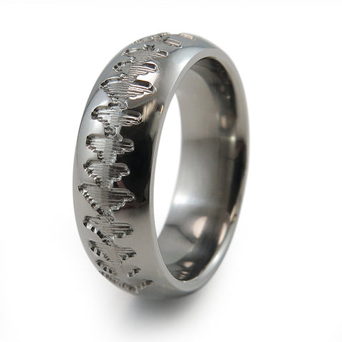 Heartbeat | Soundwave Eclipse Ladies Titanium Ring
