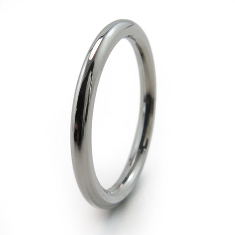 Round Stackable Titanium Rings