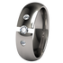 Eclipse Past-Present-Future Tension Set with Side Stones-none-Titanium Rings