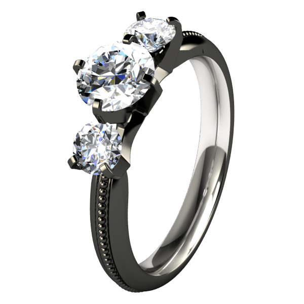 Elizabeth - Black-none-Titanium Rings