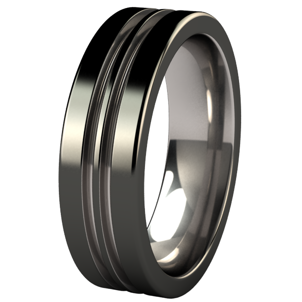 Equinox Black 2Tone-none-Titanium Rings
