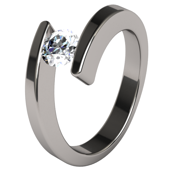 Etoile Round Solitaire Diamond-none-Titanium Rings