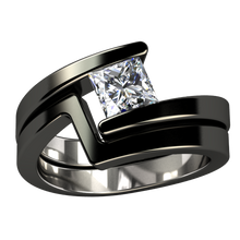 Etoile Companion Square - Black-none-Titanium Rings