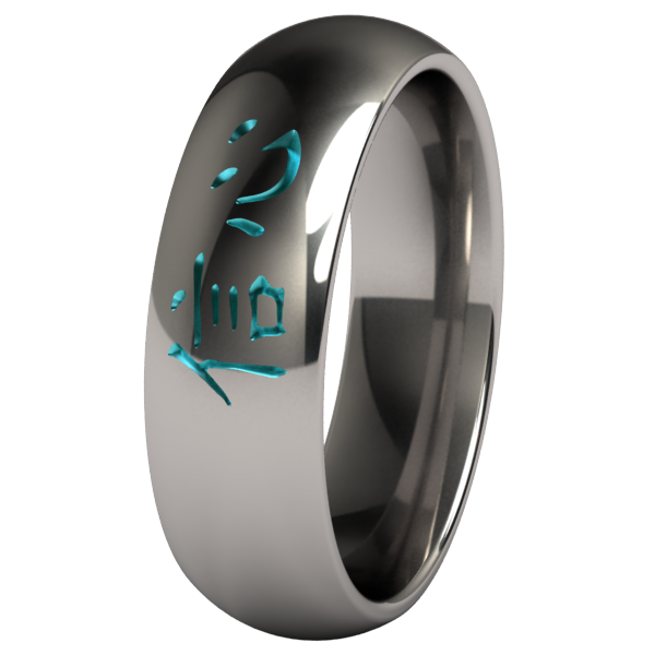 Faith Colored-none-Titanium Rings