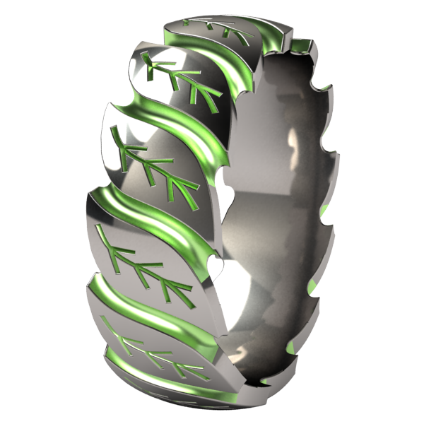 Foliage - Colored-none-Titanium Rings