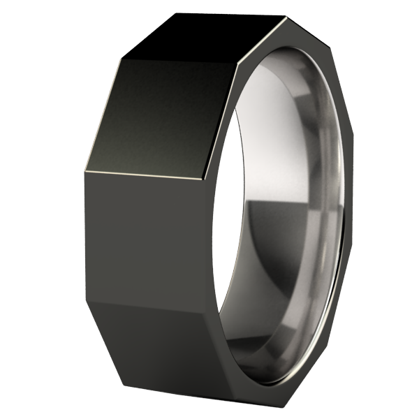 Fractal - Black-none-Titanium Rings