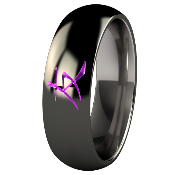 Friend Black and Colored-none-Titanium Rings