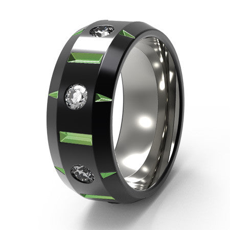 Galactic - black and colored-none-Titanium Rings