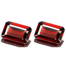 Garnet - Red-none-Titanium Rings