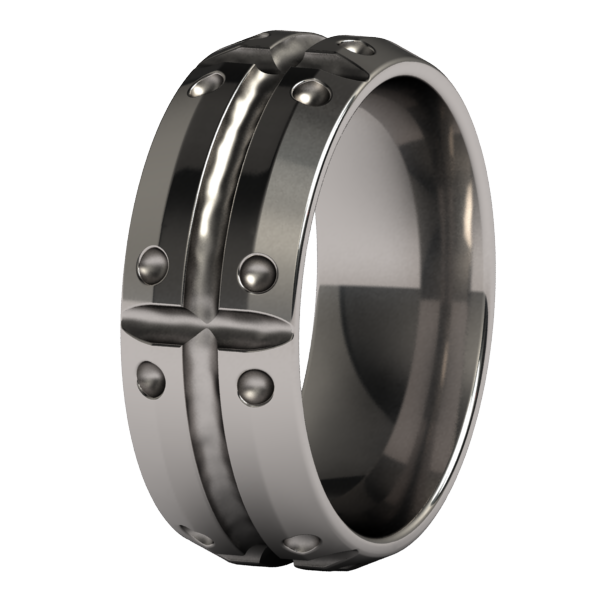 Shield-Ring - Template 21-Titanium Rings