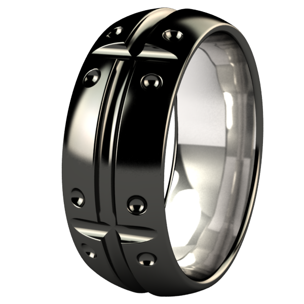 Geomatrix Dome Black-none-Titanium Rings