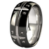 Geomatrix Dome - Black Two Toned-none-Titanium Rings