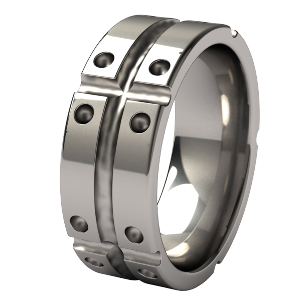 Geomatrix Flat-none-Titanium Rings