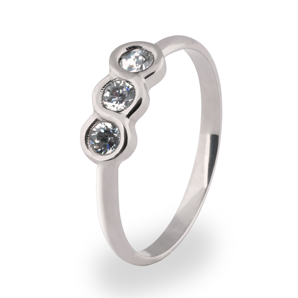 The Three Graces with Diamonds-Titanium Rings