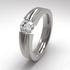 Haly Solitaire Gem-none-Titanium Rings