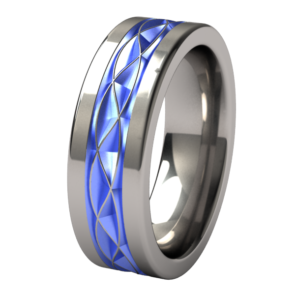 Hypnos - Colored-none-Titanium Rings