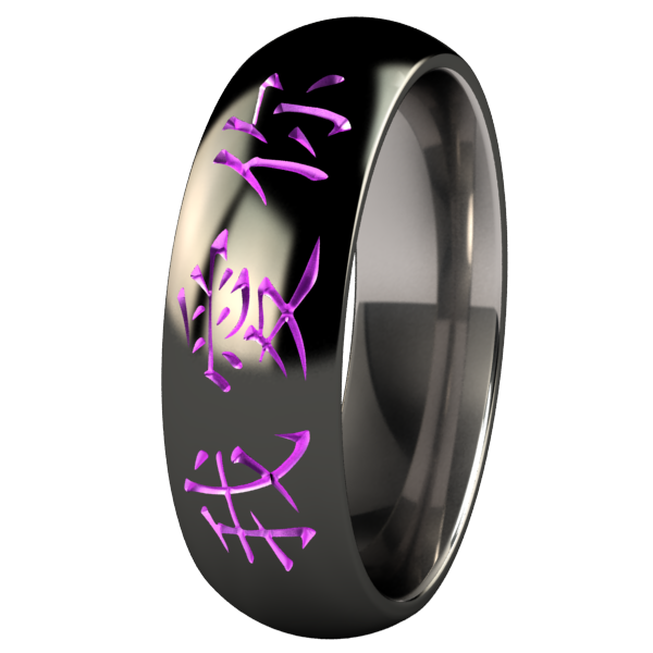 I Love You - Black & Colored-none-Titanium Rings