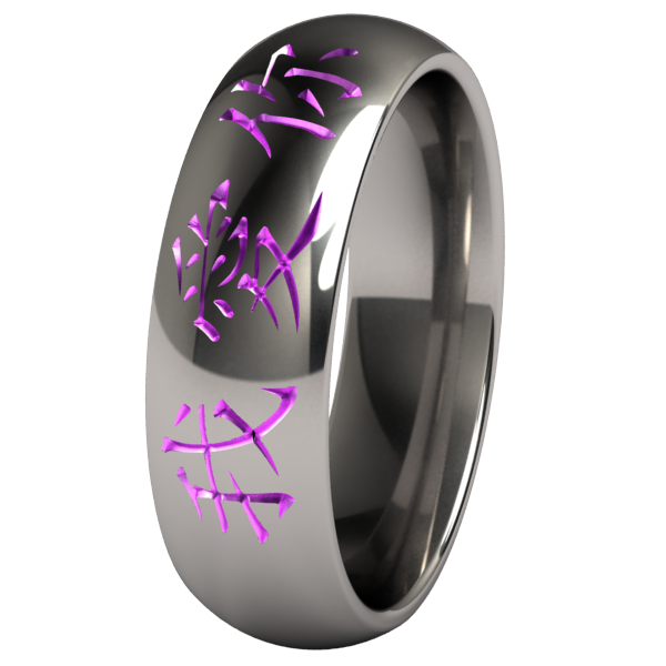 I Love You Colored-none-Titanium Rings