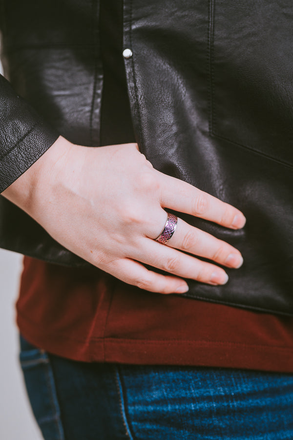 Heather | Stealth Titanium Ring