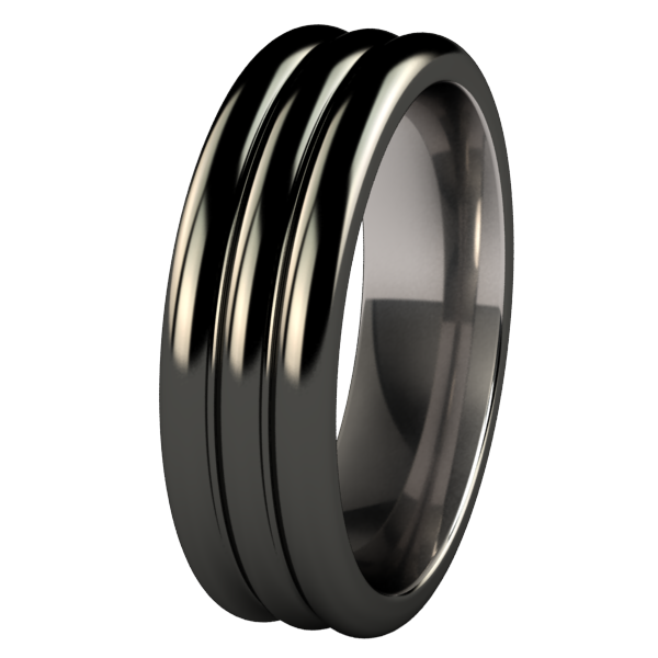 Juggler Black-none-Titanium Rings