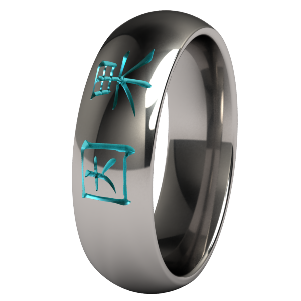 Karma Colored-none-Titanium Rings