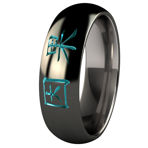 Karma Black and Colored-none-Titanium Rings