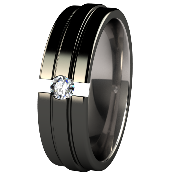 Kinetic Black Tension Setting-none-Titanium Rings