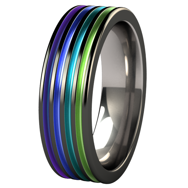 Kompressor - Black & Colored-none-Titanium Rings