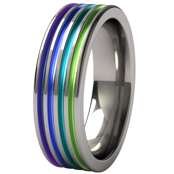 Kompressor Custom Colored-none-Titanium Rings