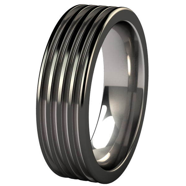 Kompressor Black 2Tone-none-Titanium Rings